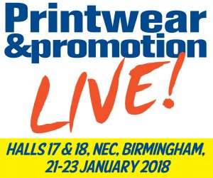 Come and see us at Printwear & Promotion Live @ NEC